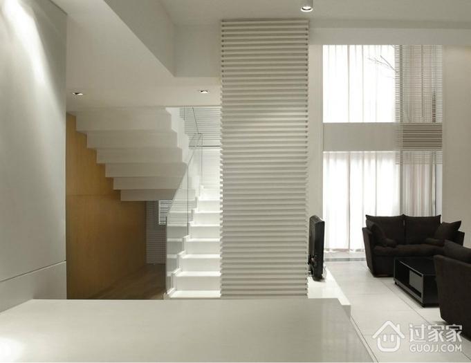 白色现代风格复式楼欣赏陈设