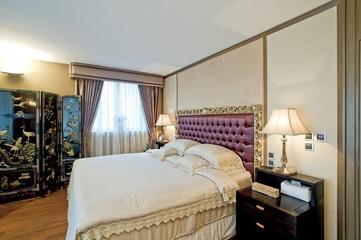 浓郁新中式三居室欣赏卧室窗帘