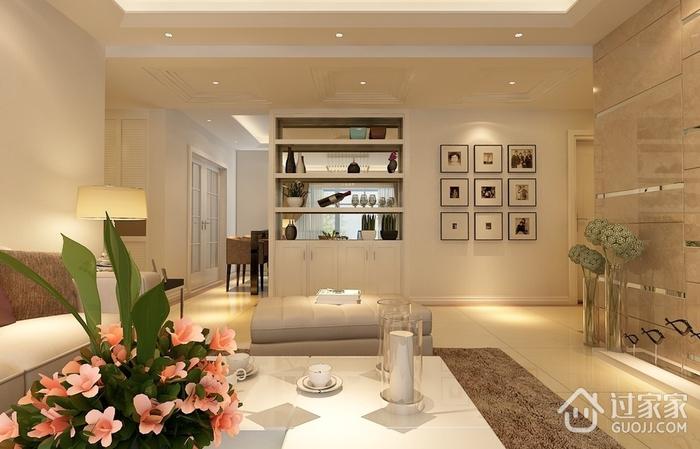 摩登现代客厅酒柜设计效果图 完美三居室