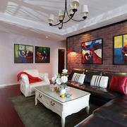 115平实用简约住宅欣赏客厅全景
