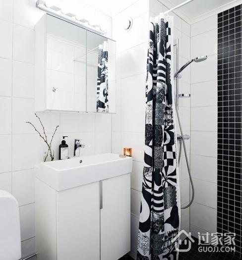 43平宜家单身公寓欣赏卫生间