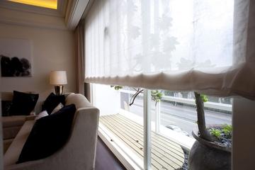 新古典三居室样板房案例欣赏客厅窗帘
