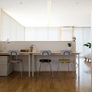 白色日式风格两居欣赏书房陈设