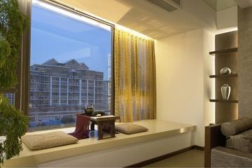 现代风格样品房客厅飘窗