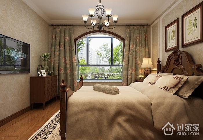 79平惬意美式住宅欣赏卧室飘窗