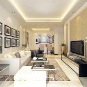 简约客厅照片墙装饰图 打造温馨家