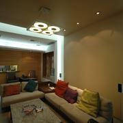 现代简约别墅设计沙发背景墙