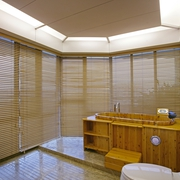 中式风木质浴缸