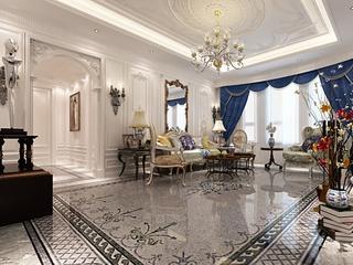 法式贵气样板间欣赏客厅设计