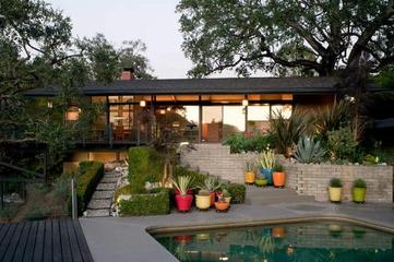时尚简约舒适别墅欣赏庭院