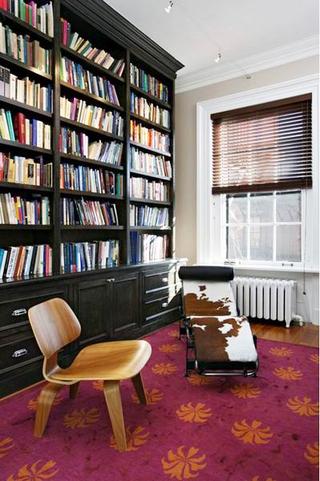 印花图案美式两居室欣赏书房