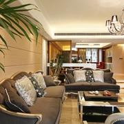 欧式风格住宅图客厅直视图