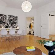 白色欧式风客厅艺术造型
