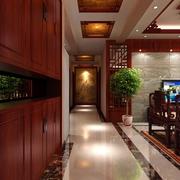 114平中式风住宅欣赏玄关鞋柜