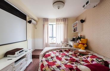 田园卧室窗帘装饰效果图 温馨空间
