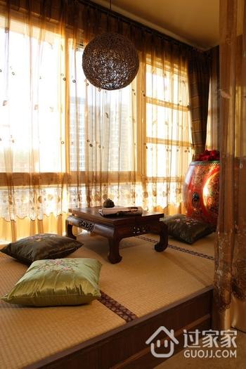 东南亚风格住宅欣赏卧室飘窗