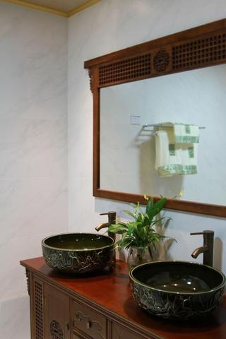 雅致89平中式风住宅欣赏洗手间