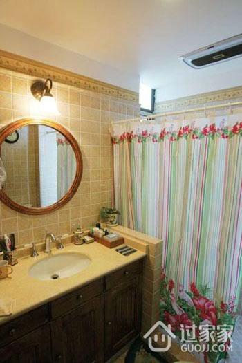 72平美式乡村两居室欣赏卫生间吊顶