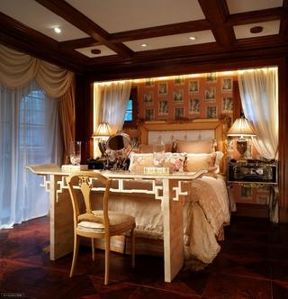 220平奢华美式别墅欣赏卧室效果