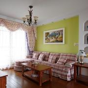 田园风公寓绿色背景墙