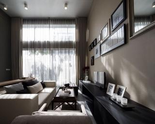 79平现代风复式楼欣赏客厅窗帘