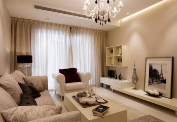 简约客厅窗帘装修效果图 极简的美居