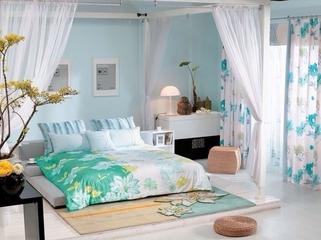 简约春天气息住宅欣赏卧室吊顶
