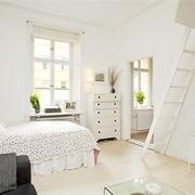 38平纯白地板住宅欣赏卧室