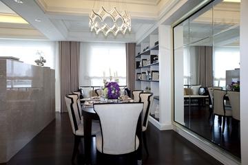 新古典三居室样板房案例欣赏餐厅餐桌