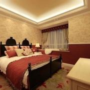 温馨舒适三居室 田园卧室飘窗设计效果图