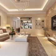 简单大气三口之家 现代客厅灯饰装修图
