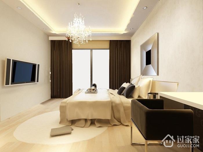 110平简约三居室设计欣赏卧室吊顶