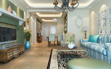 79平地中海住宅欣赏客厅电视柜