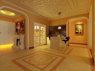 120平奢华欧式三室两厅欣赏过道陈设