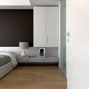 白色现代风格设计案例欣赏卧室背景墙