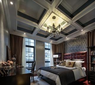 白色尊贵欧式住宅欣赏卧室陈设