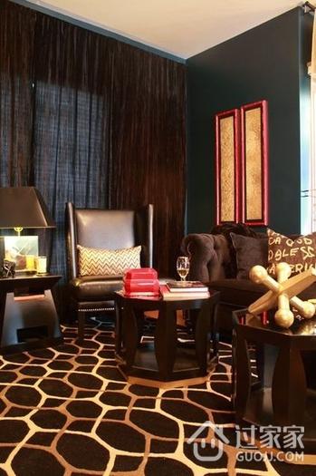 现代风复式住宅欣赏客厅局部