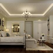 225平温馨美式住宅欣赏卧室陈设