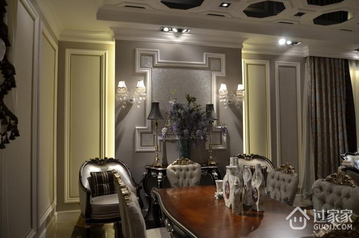 法式风三居住宅欣赏餐厅餐桌设计