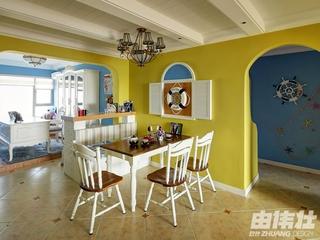 115平地中海住宅欣赏餐厅设计