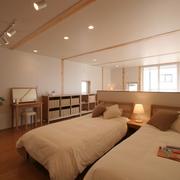 78平清爽日式风欣赏卧室