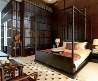 102平中式风格住宅欣赏卧室