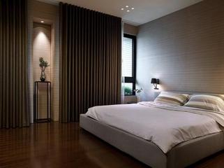 舒适温馨卧室窗帘装饰效果图