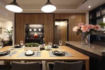 102平简约雅致三居室欣赏餐厅餐桌