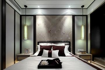 125平现代样板间欣赏卧室局部