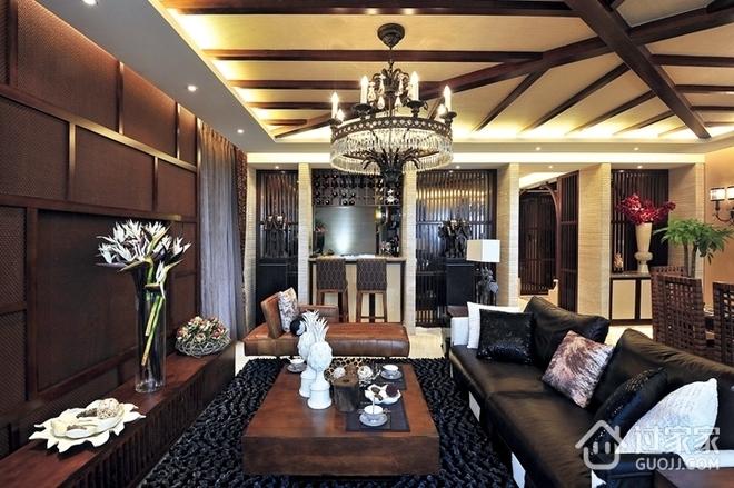 成熟稳重新中式住宅欣赏