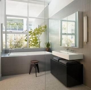 77平简约两室住宅欣赏卫生间窗户