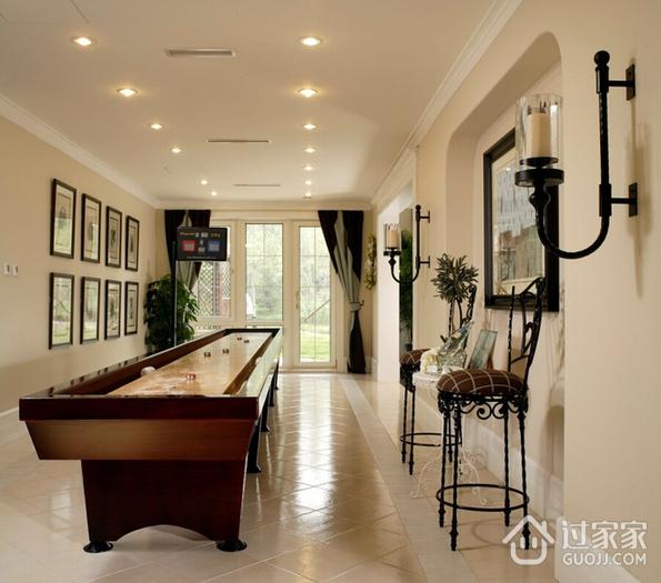 98平米三居室混搭风格休息区球桌