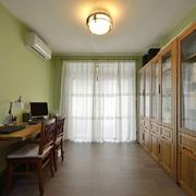 90平简约绿色两居室书房
