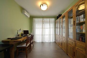 90平简约绿色两居室